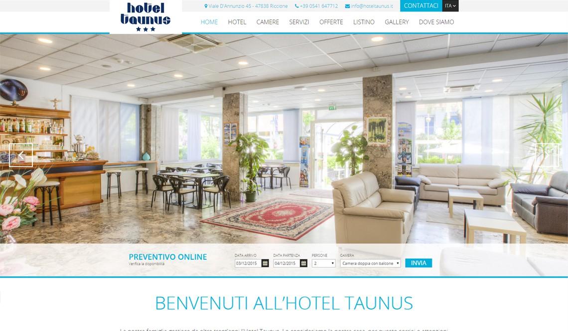 Realizzazione siti web per hotel riccione rimini for Design hotel taunus
